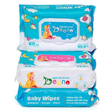 combo 3 gói khăn ướt em bé Beeno