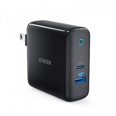 Adapter Sạc 2 Cổng Anker PowerPort+ 33W Tích Hợp Cổng USB Type-C Hỗ Trợ PowerDelivery PD - A2626 - Hàng Chính Hãng