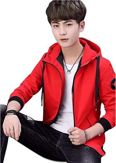 áo khoác nam đỏ chữ V
