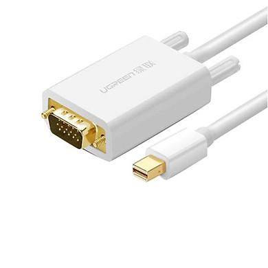 Mini DP to VGA converter 1920*1080PPlay and Plug Trắng Ugreen 10410-trắngHàng chính hãng