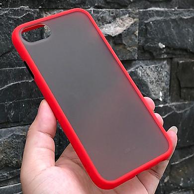 Ốp lưng nhám viền màu chống sốc cho các dòng máy iPhone