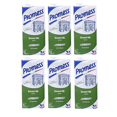Thùng 6 Hộp Sữa Tươi Không Béo Promess (1L /Hộp)