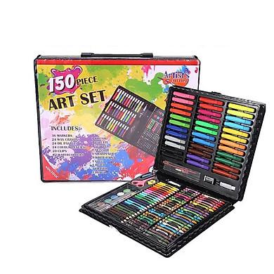Bộ bút màu vẽ 150 món cho bé - Tặng 2 bút bi nước hình dễ thương