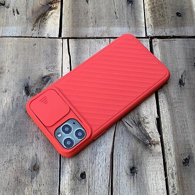 Ốp lưng kéo nắp camera cao cấp dành cho iPhone 11 Pro Max - Màu Đỏ
