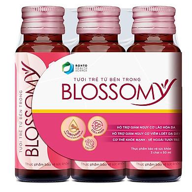 Thực Phẩm Chức Năng Bảo Vệ Sức Khỏe Giúp Da Sáng Đẹp Và Dạ Dày Khỏe Blossomy Lốc 03 chai x 50ml