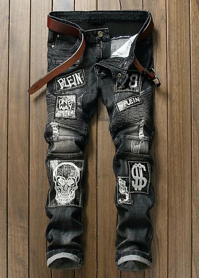 Quần jeans rách đầu lâu plein Mã: ND0920