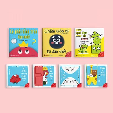 Combo 7 cuốn sách Ehon Điều kỳ diệu của hình khối và Chơi cùng Giri - Chú bé cơm nắm phần 2