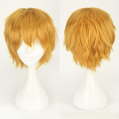 Gobestart Multi Color Short Straight Hair Wig Anime Party Cosplay Full sell Wigs 35cm