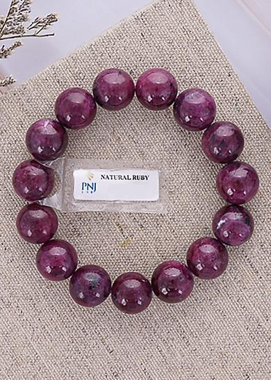 Vòng Tay Nữ Đá Ruby Nam Phi Đỏ Tím Cao Cấp Hadosa NSBRB01S14 (14mm)