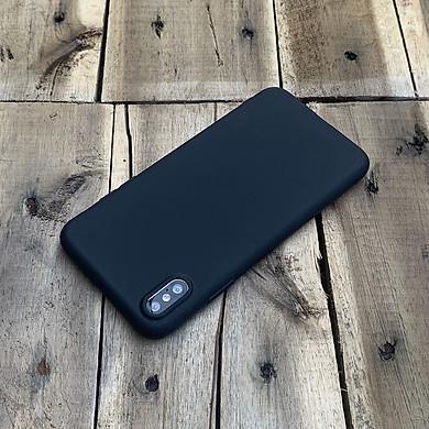 Ốp lưng dẻo mỏng dành cho iPhone X / iPhone XS - Màu đen