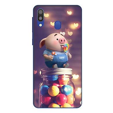 Ốp lưng điện thoại Samsung Galaxy M20 hình Heo Con Ăn Kẹo