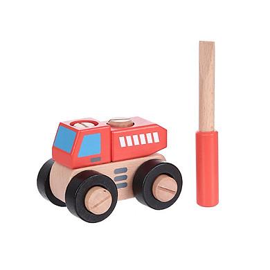 Đồ chơi gỗ xếp hình Miniso xe tải 209g - Hàng chính hãng