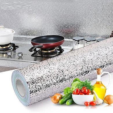 Giấy bạc dán tường nhà bếp chống thấm dầu, thấm nước tiện dụng 3mx60cm