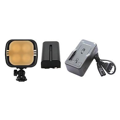 Combo Đèn LED Video Zifon ZF-3000 Version II (New) + Bộ 01  Pin Và 01  Sạc F570 - Hàng Nhập Khẩu