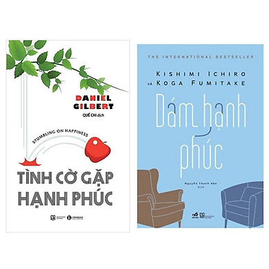Combo 2 cuốn sách kỹ năng sống hay :  Tình Cờ Gặp Hạnh Phúc + Dám Hạnh Phúc (Tặng kèm Bookmark thiết kế AHA)