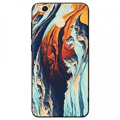 Ốp lưng dành cho Xiaomi Redmi 4X mẫu Vệt sóng xanh cam