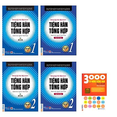 Combo bộ 4 cuốn Giáo trình tiếng Hàn tổng hợp dành cho người Việt Nam kèm 300 từ Hàn thông dụng TV