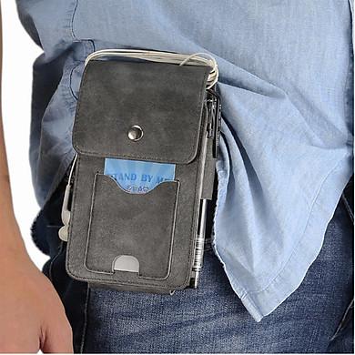 Bao da đựng điện thoại đeo ngang hông