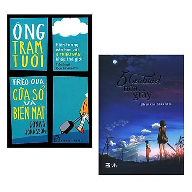 Combo 2 Cuốn Sách Văn Học Hay: Ông Trăm Tuổi Trèo Qua Cửa Sổ Và Biến Mất (Tái Bản) + 5 Centimet Trên Giây / Tặng Kèm Bookmark Happy Life