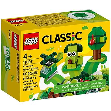 Đồ Chơi Lắp Ghép LEGO Classic Hộp Lắp Ráp Sáng Tạo Xanh Lá 11007 (60 Chi Tiết)