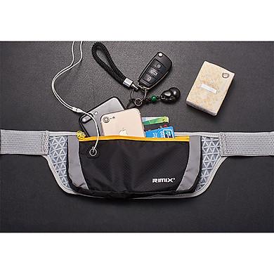 Túi đeo hông đeo bụng chạy bộ chống nước, dây đeo thoáng khí Rimix RM5502