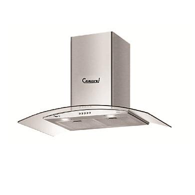 Máy hút mùi kính cong CANAVAL CA-8790S Inox, Lưu lượng hút 1000mM3/h 225W - Hàng chính hãng