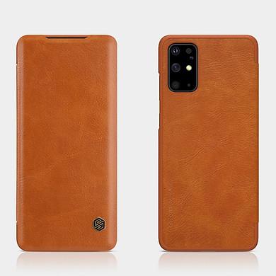 Bao da Leather cho Samsung Galaxy S20 Plus hiệu Nillkin Qin HPK-01 (Chất liệu da cao cấp, có ngăn đựng thẻ, mặt da siêu mềm mịn) - Hàng chính hãng