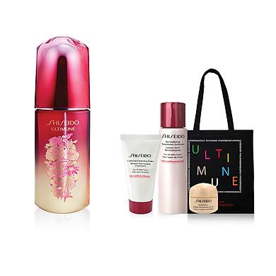 Bộ sản phẩm Tinh chất dưỡng da Shiseido Ultimune Power Infusing Concentrate N 75ml Phiên bản giới hạn Mùa lễ hội-16025
