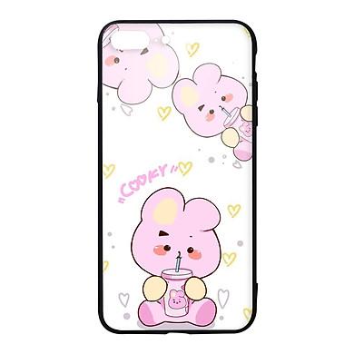 Ốp lưng KÍNH CƯỜNG LỰC VIỀN ĐEN cho iPhone 8 Plus KPOP_BTS_COOKY 2 - Hàng chính hãng