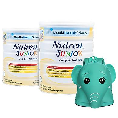 Combo 2 Sản Phẩm Dinh Dưỡng Y Học NUTREN JUNIOR lon 800g – Tặng balo con voi