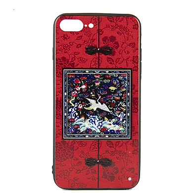 Ốp lưng Iphone 7 Plus phim Diên Hi - Đỏ vuông - Hàng chính hãng
