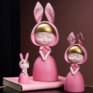 decor trang trí để bàn -Bộ 3 cô gái dễ thương trang trí