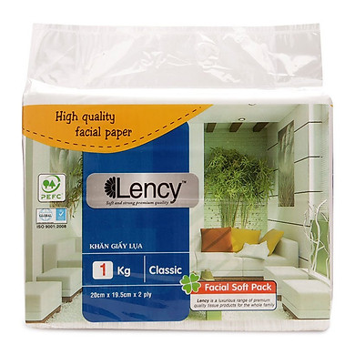 Khăn giấy lụa 2 lớp Lency