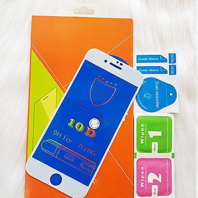 Kính Cường lực 10D Dành Cho IPHONE 7 Full Keo Màn Hình - Màu Trắng