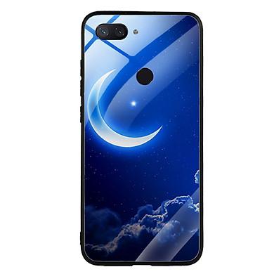 Ốp Lưng Kính Cường Lực cho điện thoại Xiaomi Mi 8 Lite - 0220 MOON01 - Hàng Chính Hãng