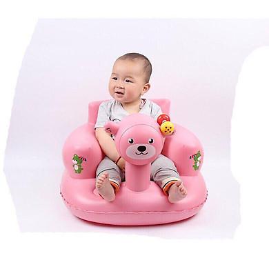 Ghế hơi tập ngồi hình gấu cho bé
