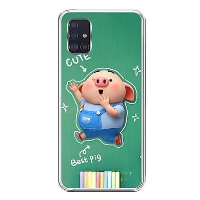 Ốp lưng dẻo cho điện thoại Samsung Galaxy A51 - 0119 PIG20 - Hàng Chính Hãng