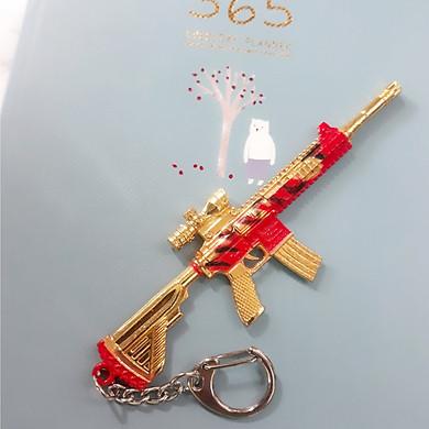 Móc khóa mô hình trong Game PUBG  Vàng Đỏ