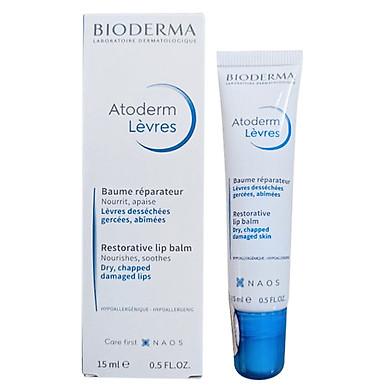 Sáp dưỡng ẩm dành cho môi khô, nứt nẻ BIODERMA Atoderm Lèvres Baume Reparateur 15ml