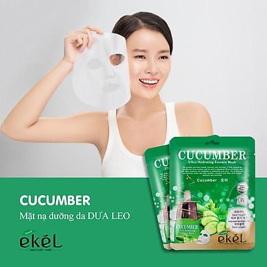 Combo 10 miếng mặt nạ dưỡng da tặng 3 miếng dưỡng da bất kỳ EKEL Cucumber ULtra Hydrating Essence Mask