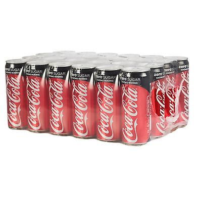 Lốc 24 Lon Nước Giải Khát Có Gas Coca-Cola Zero Sleek (330ml / Lon)