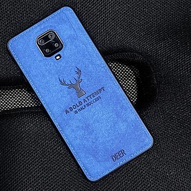 Ốp lưng cho Xiaomi Redmi Note 9S - Redmi Note 9 Pro giả da con hươu DEER - Nhựa dẻo TPU