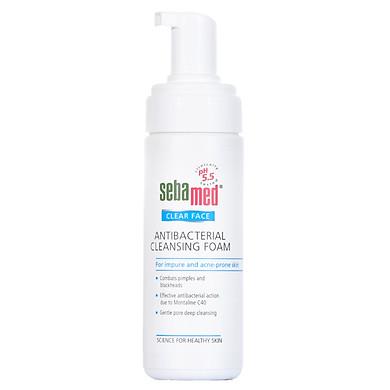 Sữa Rửa Mặt Tạo Bọt Kháng Khuẩn, Trị Mụn pH5.5 Sebamed Clear Face Antibacterial Cleansing Foam SCF01A (150ml)