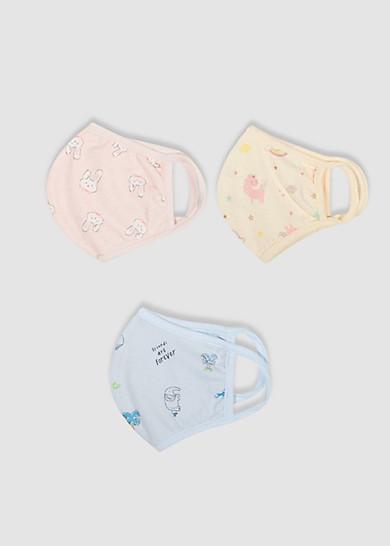 Combo 3 Khẩu Trang Vải Cotton Cho Em Bé Từ 1 đến 3 tuổi
