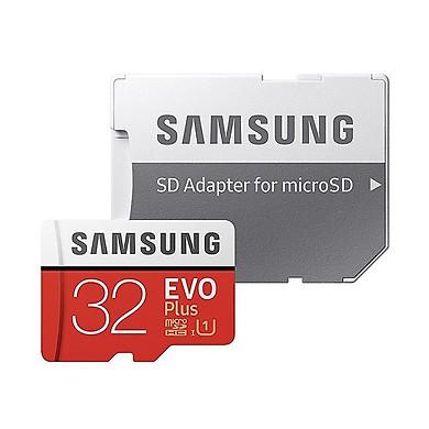 Thẻ Nhớ Micro SD Samsung Evo Plus U1 32GB Class 10 - 95MB/s (đỏ) - Kèm Adapter - Hàng Chính Hãng