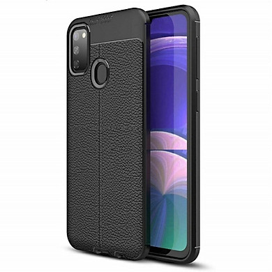 Ốp lưng dành cho SamSung Galaxy A21s silicon giả da chính hãng Auto Focus