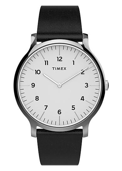 Đồng Hồ Nam Dây Da  Timex Norway 40mm Leather Strap Watch - TW2T66300 - Màu Đen