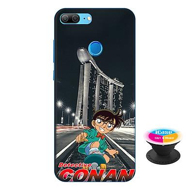Ốp lưng nhựa dẻo dành cho Honor 9 Lite in hình Conan - Tặng Popsocket in logo iCase - Hàng Chính Hãng