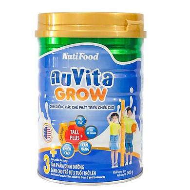 Sữa Bột NutiFood Nuvita Grow 3+ (900g) – DD đặc chế phát triển chiều cao (Cho bé trên 3 tuổi)