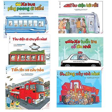 Bộ Ehon về các phương tiện giao thông: Xe Bus Píng Poong Đi Biển - Cùng Xây Nhà Nào - Xe Tuần Tra Cố Lên Nào - Tàu Điện Tới Rồi - Tàu Điện Di Chuyển Nào - Tiến Lên Xe Cứu Hỏa